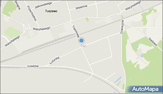 Grudziądz, Droga Topolowa, mapa Grudziądza