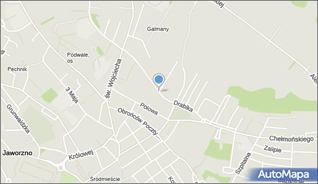 Jaworzno, Drabika Wincentego, mapa Jaworzno