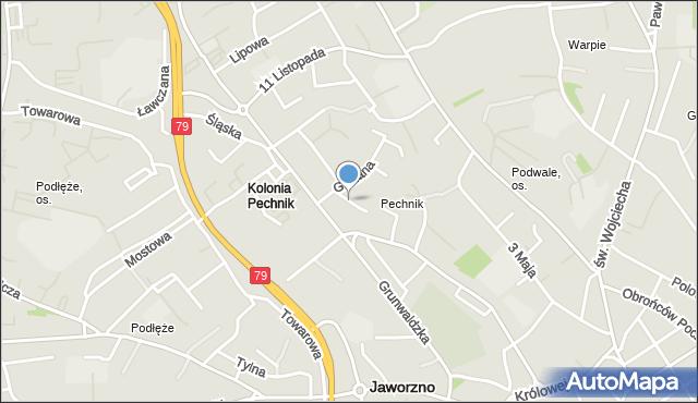 Jaworzno, Drzewianki, mapa Jaworzno