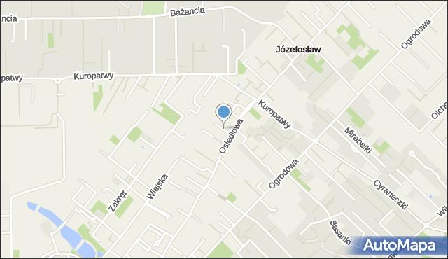 Józefosław, Drozda, mapa Józefosław