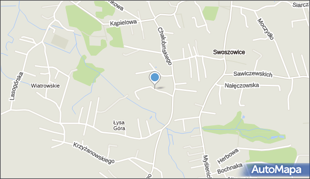 Kraków, Druskiennicka, mapa Krakowa