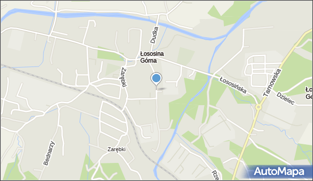 Limanowa, Drożdża Jana, mapa Limanowa