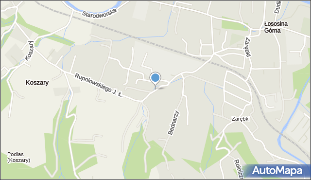 Limanowa, Drzewna, mapa Limanowa