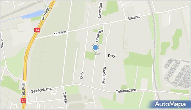 Łódź, Drwęcka, mapa Łodzi