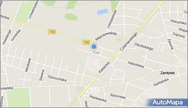 Radom, Drewniana, mapa Radomia