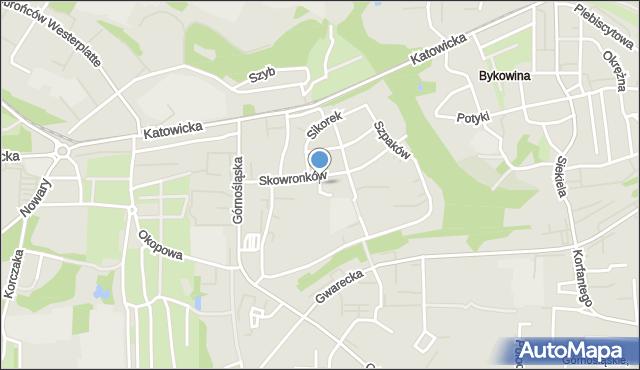 Ruda Śląska, Drozdów, mapa Rudy Śląskiej