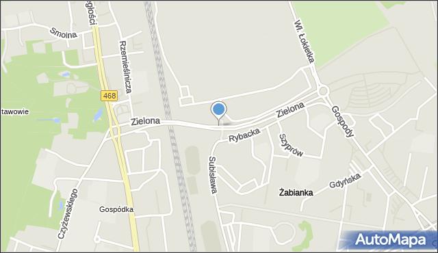 Sopot, Droga Zielona, mapa Sopotu