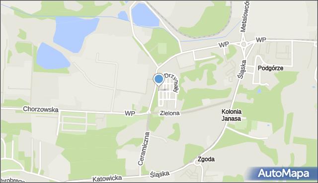 Świętochłowice, Drzymały Michała, mapa Świętochłowice