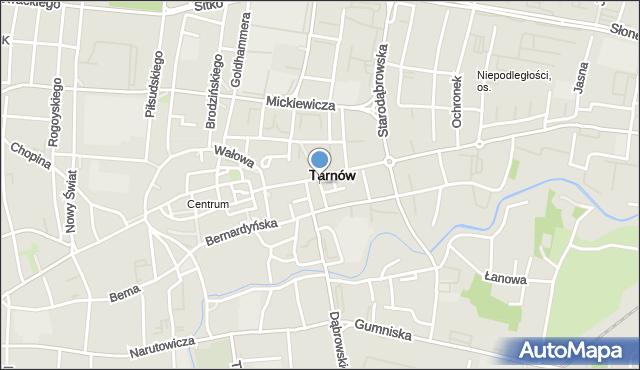 Tarnów, Drzewna, mapa Tarnów