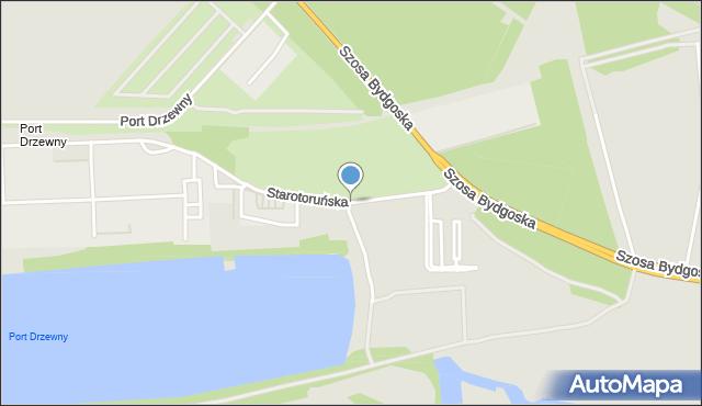 Toruń, Droga Starotoruńska, mapa Torunia