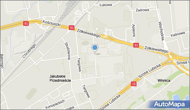 Toruń, Droga Trzeposka, mapa Torunia