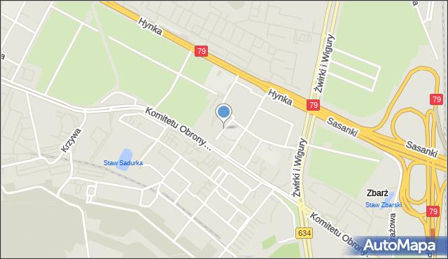Warszawa, Drzewieckiego Stefana, mapa Warszawy