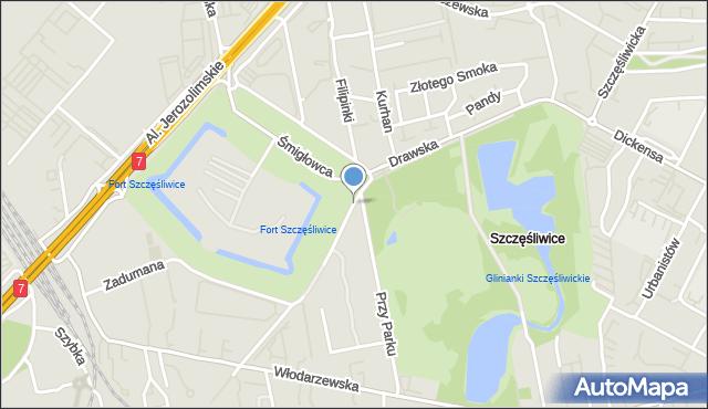 Warszawa, Drawska, mapa Warszawy