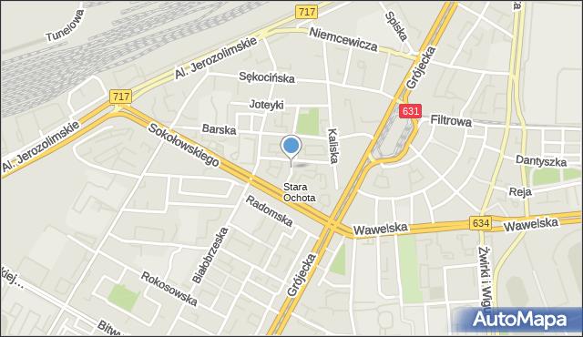 Warszawa, Drobiazg, mapa Warszawy