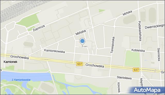 Warszawa, Drewnicka, mapa Warszawy