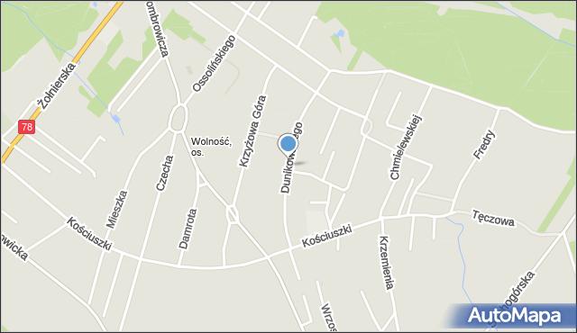 Bytom, Dunikowskiego Ksawerego, mapa Bytomia