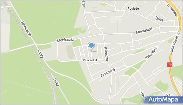 Jaworzno, Dunikowskiego Ksawerego, mapa Jaworzno