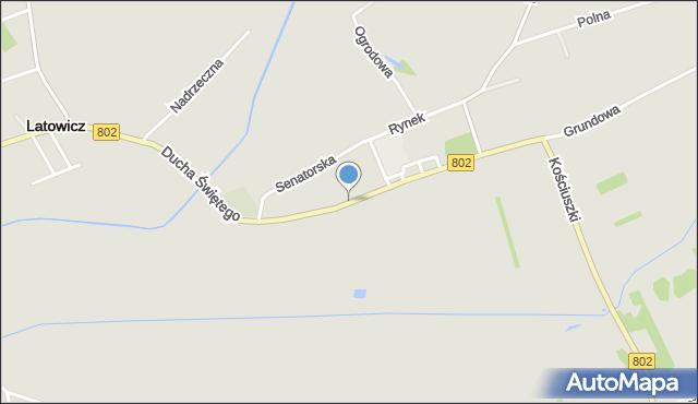 Latowicz, Ducha Świętego, mapa Latowicz