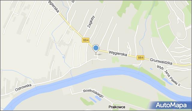 Przemyśl, Dubiecka, mapa Przemyśla