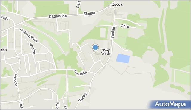 Ruda Śląska, Dunikowskiego Ksawerego, mapa Rudy Śląskiej