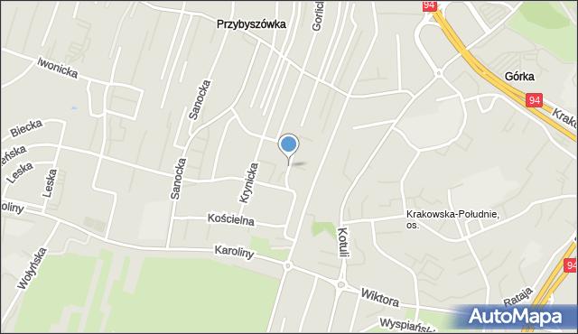 Rzeszów, Dukielska, mapa Rzeszów
