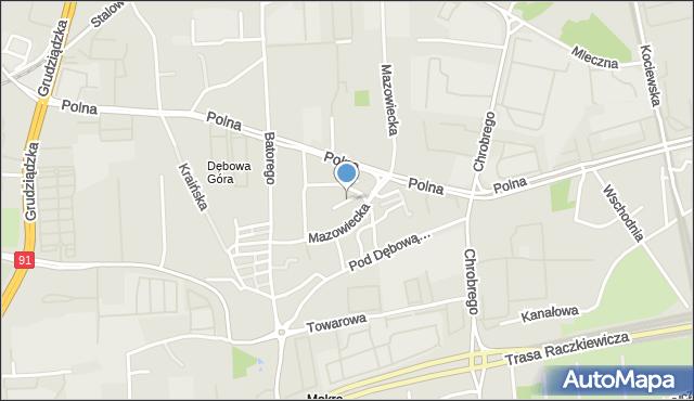 Toruń, Dudojcia Ignacego, mapa Torunia