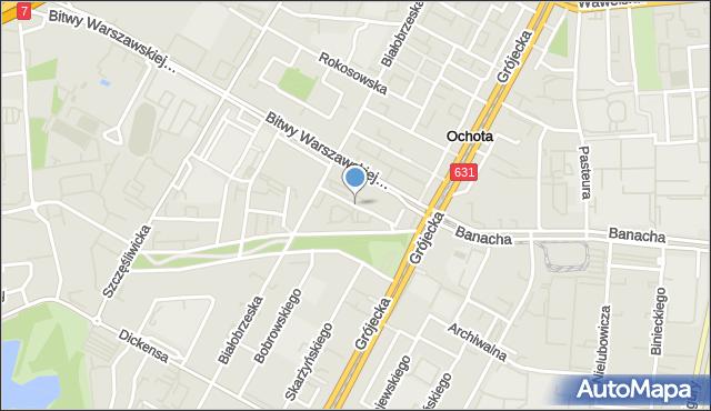 Warszawa, Dunajecka, mapa Warszawy