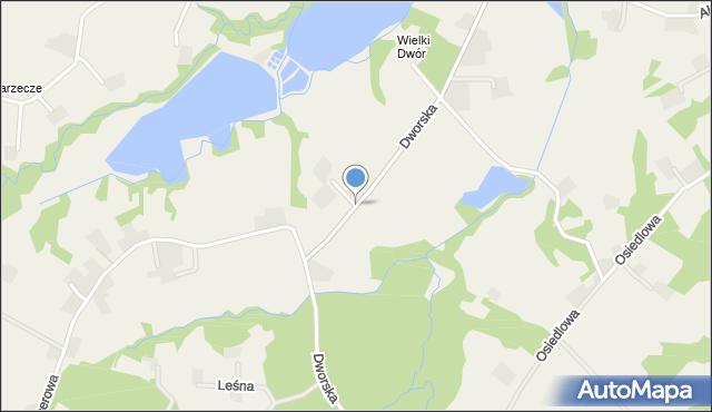 Frydrychowice, Dworska, mapa Frydrychowice