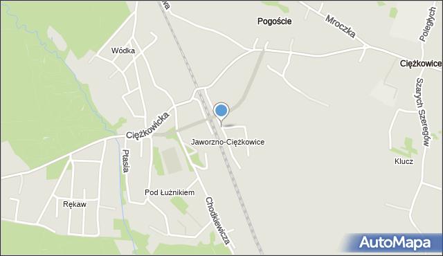 Jaworzno, Dworcowa, mapa Jaworzno