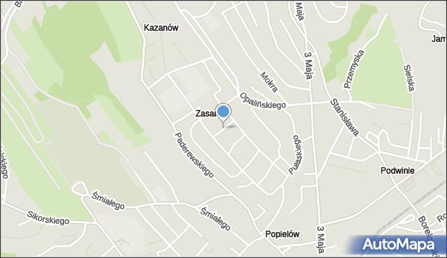Przemyśl, Dwernickiego Józefa, gen., mapa Przemyśla