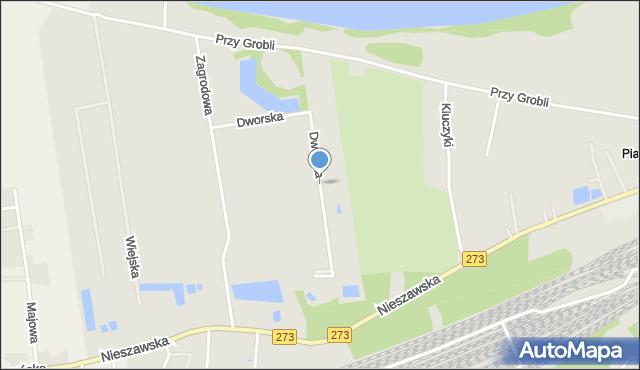 Toruń, Dworska, mapa Torunia