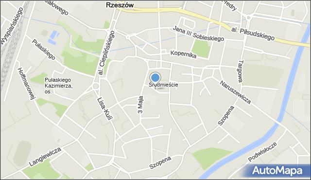 Rzeszów, Dymnickiego Feliksa, ks., mapa Rzeszów