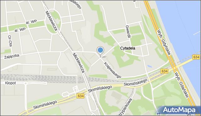 Warszawa, Dymińska, mapa Warszawy