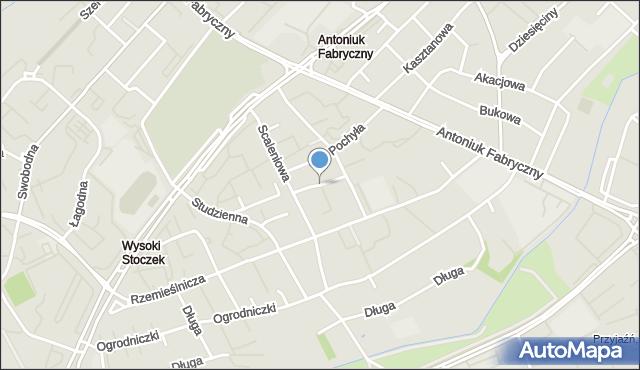 Białystok, Dziecinna, mapa Białegostoku