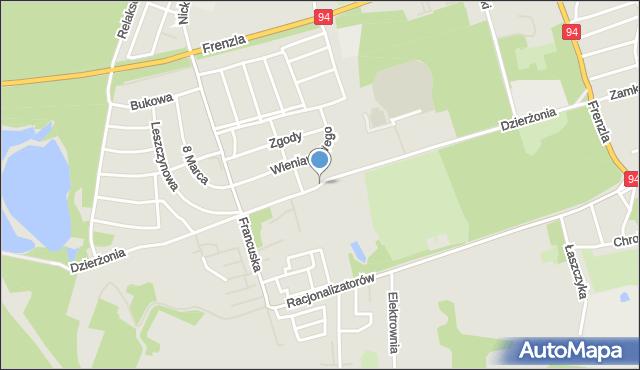Bytom, Dzierżonia Jana, mapa Bytomia