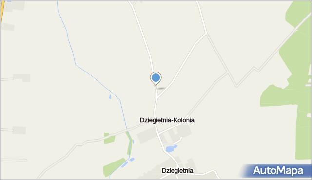 Dziegietnia-Kolonia, Dziegietnia-Kolonia, mapa Dziegietnia-Kolonia