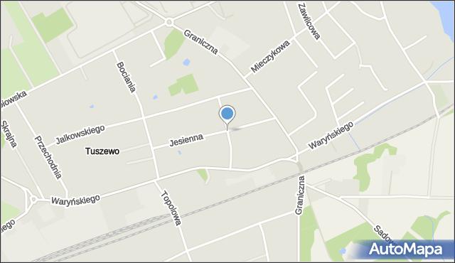 Grudziądz, Działkowa, mapa Grudziądza