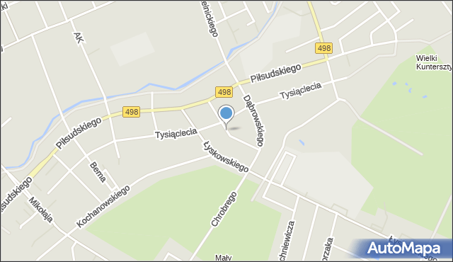 Grudziądz, Działyńskich, mapa Grudziądza