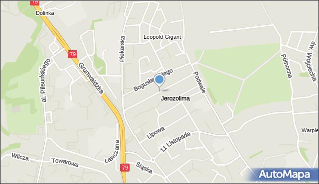 Jaworzno, Działkowa, mapa Jaworzno
