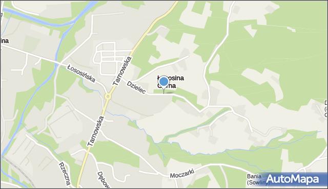 Limanowa, Dzielec, mapa Limanowa