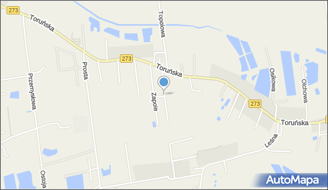 Mała Nieszawka, Działkowa, mapa Mała Nieszawka