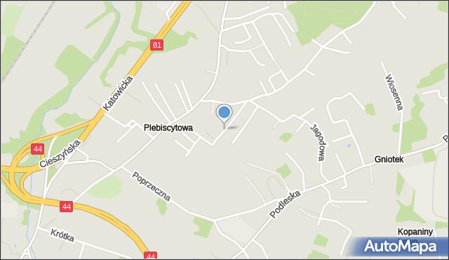 Mikołów, Dzwonkowa, mapa Mikołów