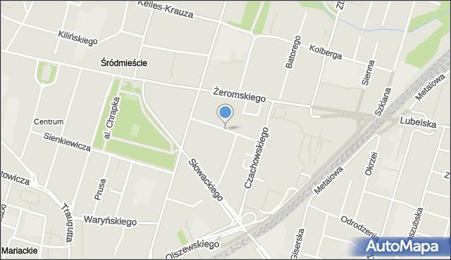 Radom, Dzierzkowska, mapa Radomia