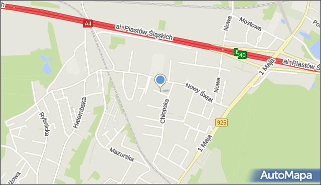 Ruda Śląska, Dziewanny, mapa Rudy Śląskiej