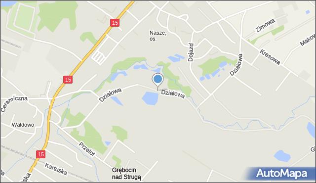 Toruń, Działowa, mapa Torunia