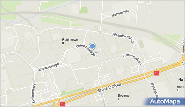 Toruń, Dziewulskiego Władysława, mapa Torunia
