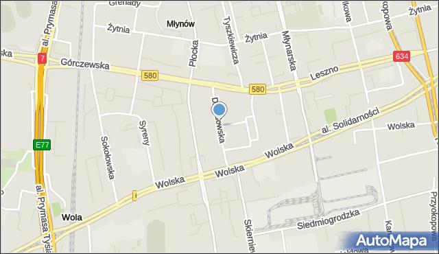 Warszawa, Działdowska, mapa Warszawy