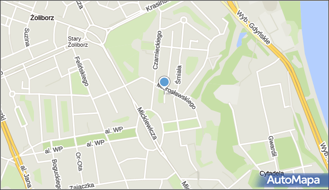 Warszawa, Ejsmonda Juliana, mapa Warszawy