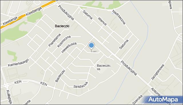 Białystok, Elektronowa, mapa Białegostoku