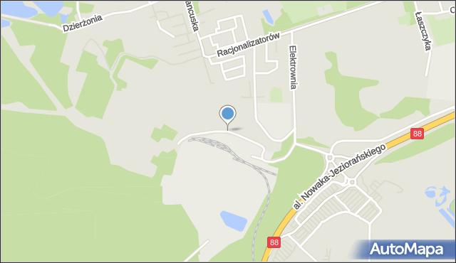 Bytom, Elektrownia, mapa Bytomia